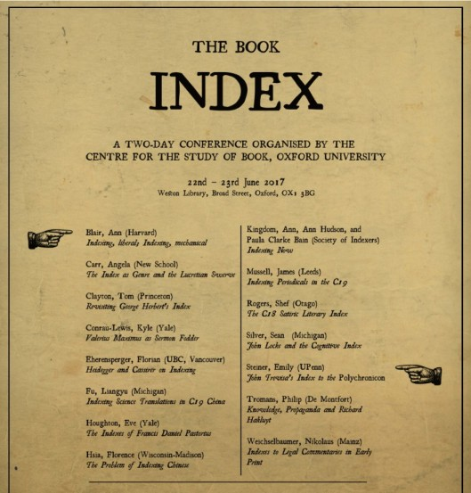 Index Of Pictures: The Book Index Conference